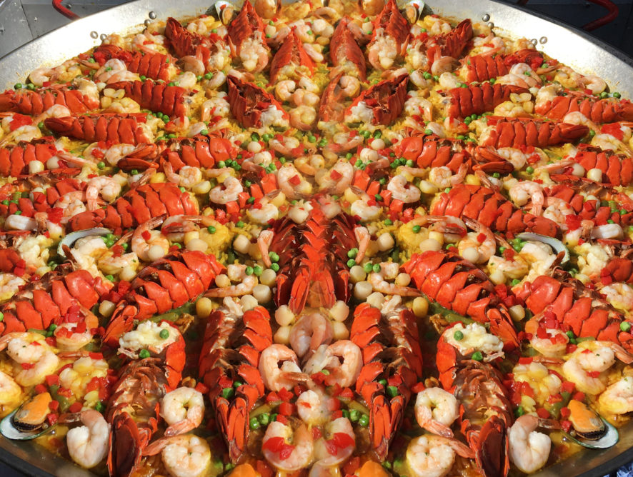 Paella Valenciana with Lobster Tail